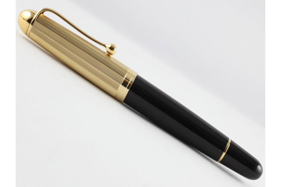 Aurora 88 Big Black Resin with Gold Cap Fountain Pen