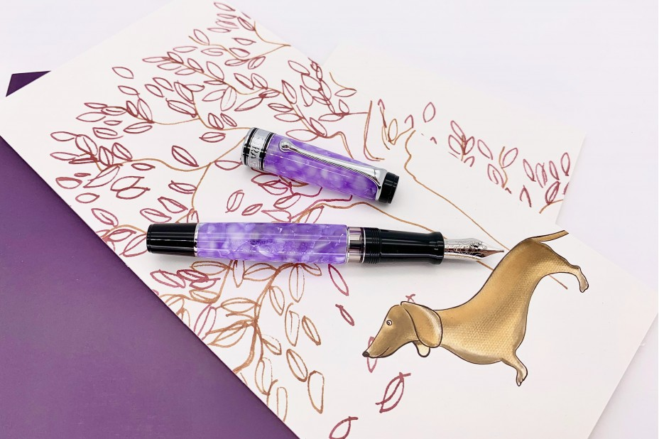 Aurora Limited Edition Optima 365 Lilac Fountain Pen