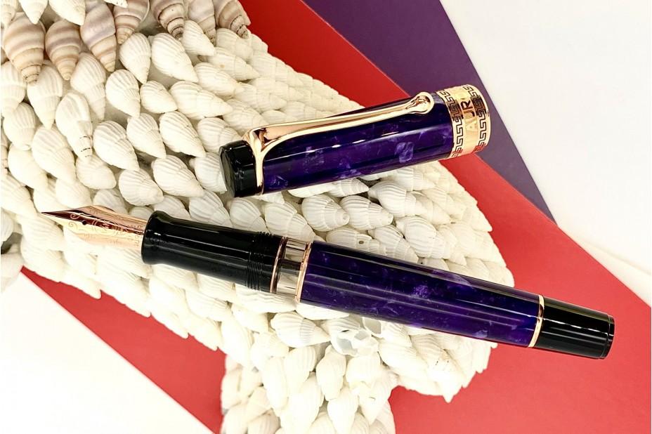 Aurora Optima Auroloide Viola Fountain Pen
