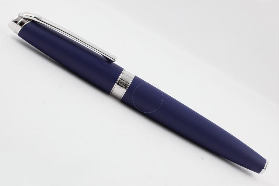 Caran D`Ache Leman Matt Blue Night Silver Trim Roller Ball Pen