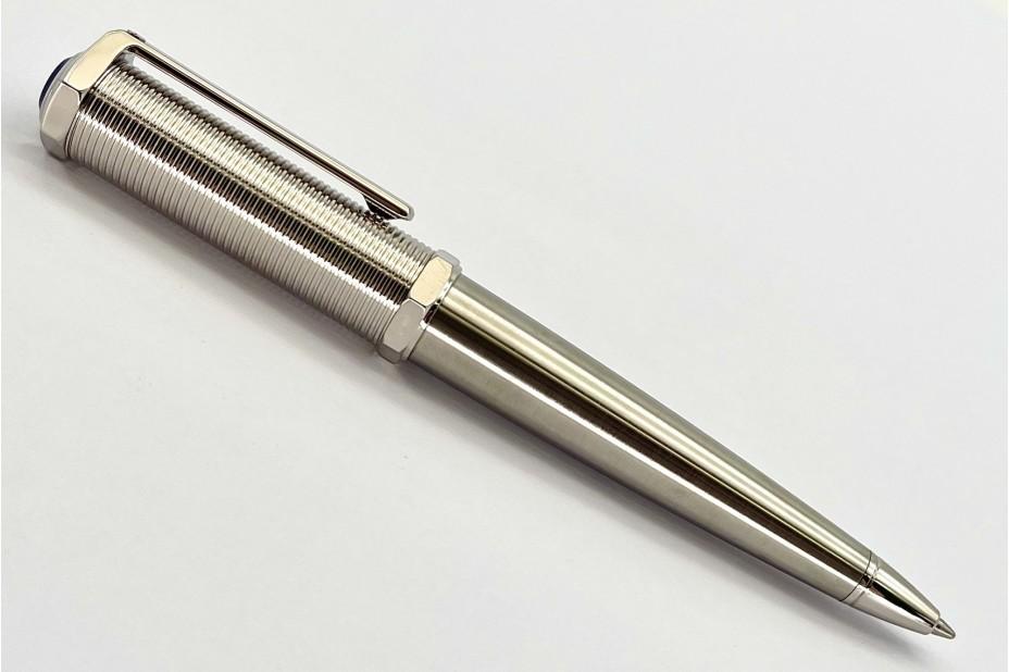 Cartier OP000152 Santos-Dumont Screw Thread Metal Body Palladium Ball Pen