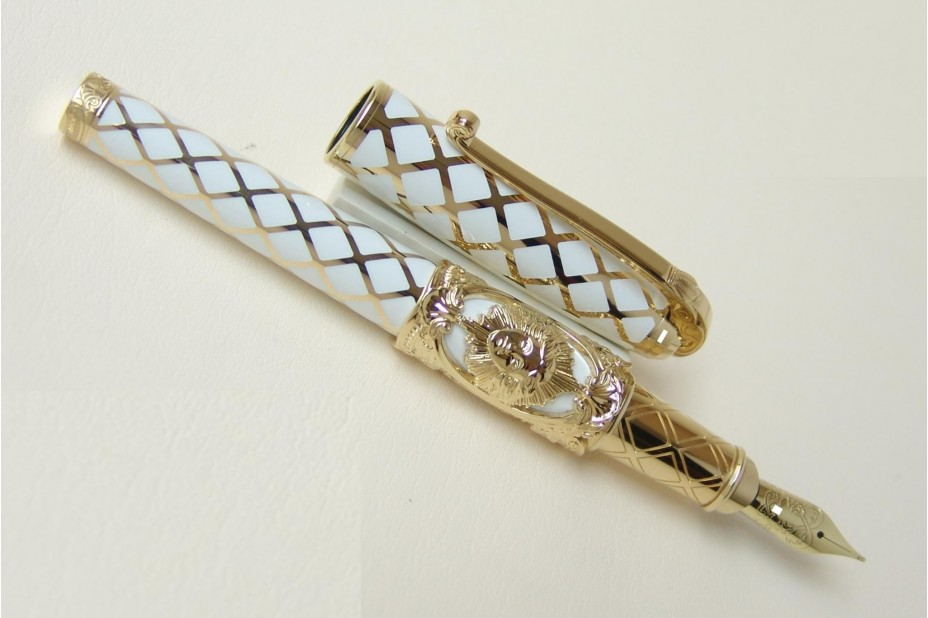 S.T. Dupont Limited Edition Versailles White Lacquer Fountain Pen