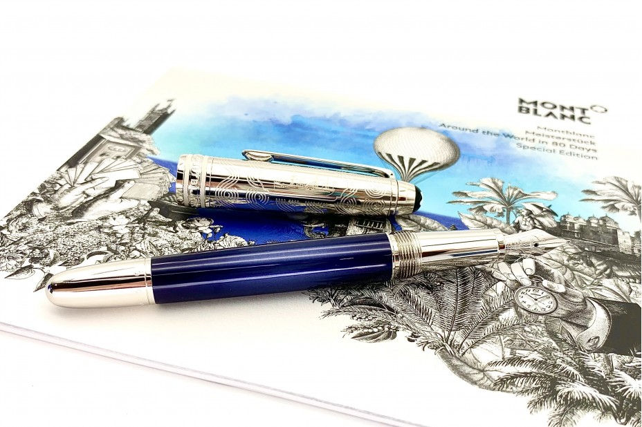 Montblanc Meisterstuck Around the World in 80 days Doue Classique 145 Fountain Pen