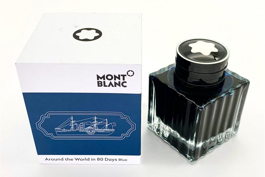 Montblanc 128075 Ink bottle Around the World in 80 Days Blue 50ml