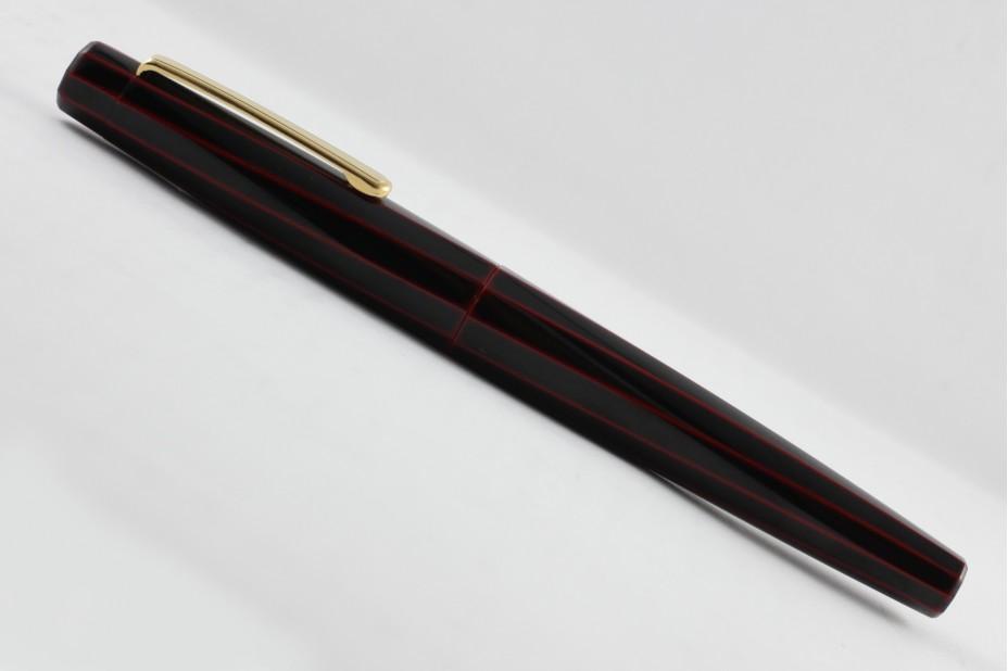 Nakaya Decapod TW Writer Kuro Tamenuri Fountain Pen