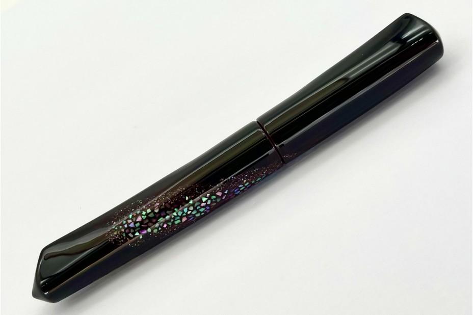 Nakaya Dorsal Fin Version 2 Amanogawa Milky Way Kuro-Tamenuri Fountain Pen