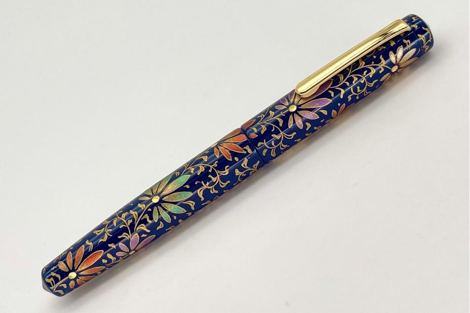 Nakaya Piccolo Long Writer Chinkin Palmet Kikyo Coloured Powders Fountain Pen