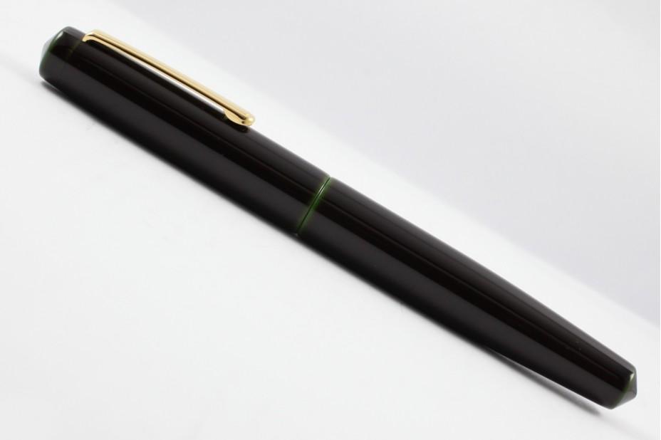 Nakaya Piccolo Long Writer Midori Tamenuri with Olive Green Fountain Pen