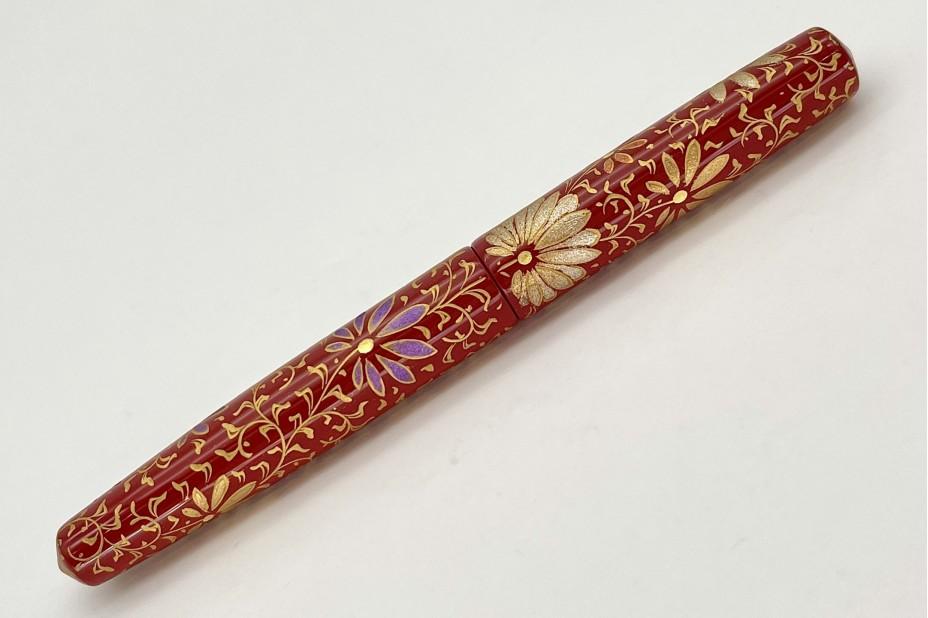 Nakaya Piccolo Long Cigar Chinkin Palmet Shu Coloured Powders Fountain Pen