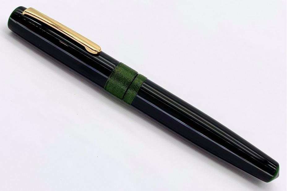 Nakaya Piccolo Long Writer Midori-Tamenuri String-Rolled Model Fountain Pen