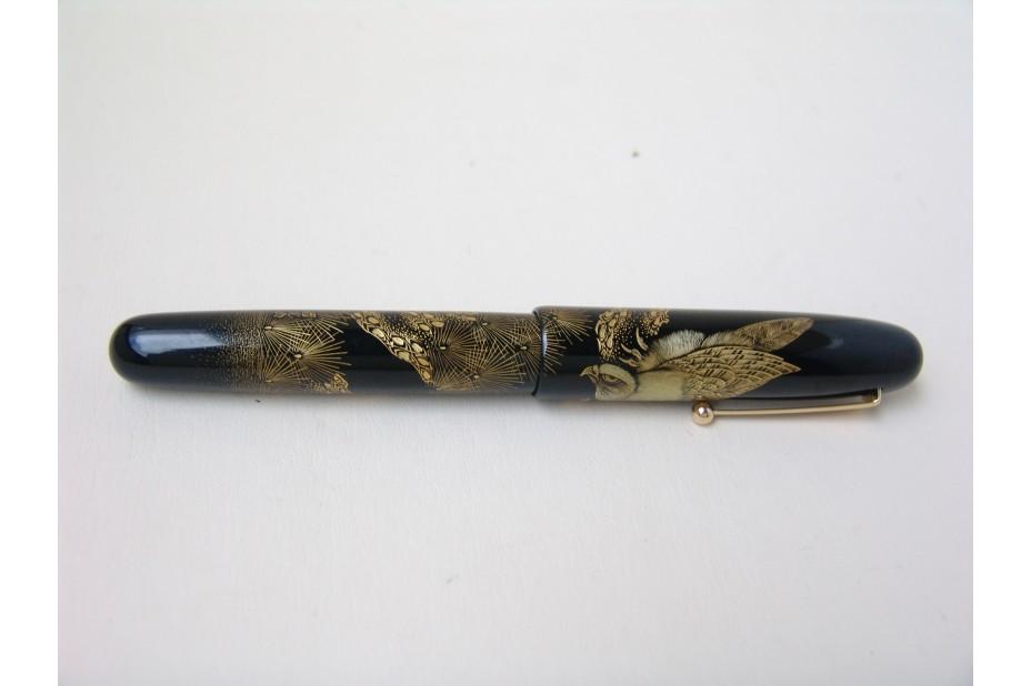 Namiki Emperor Size Chinkin Hawk Fountain Pen