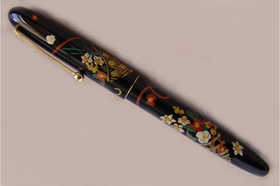 Namiki Nippon Art Flower Basket Roller Ball Pen