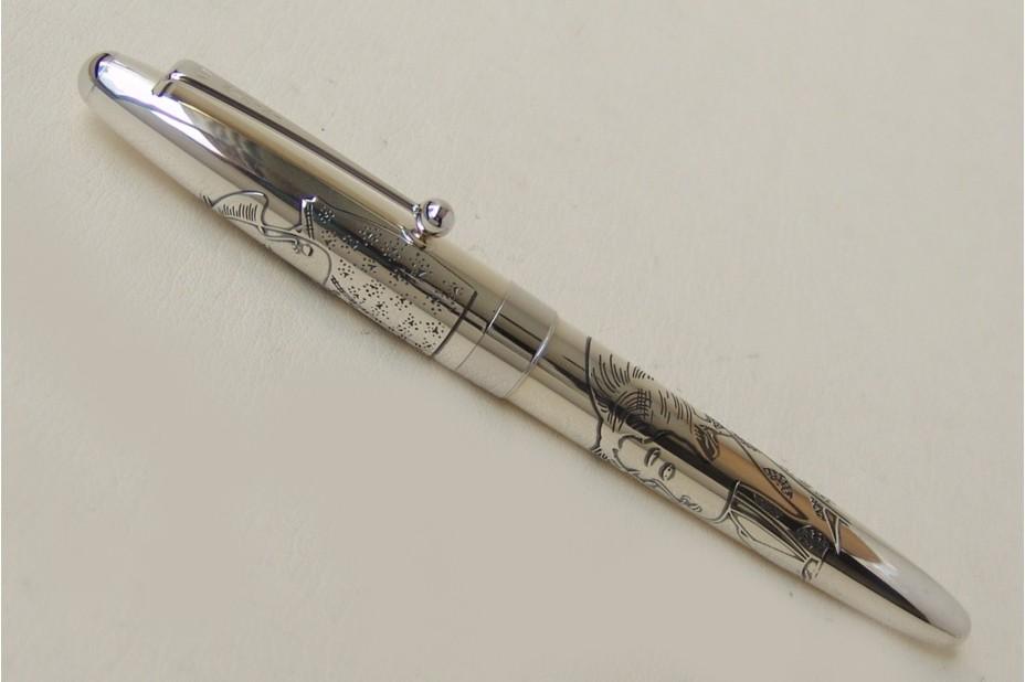 Namiki Sterling Silver Geisha Fountain Pen