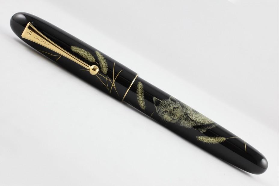 Namiki Yukari Royale Chinkin Cat Fountain Pen
