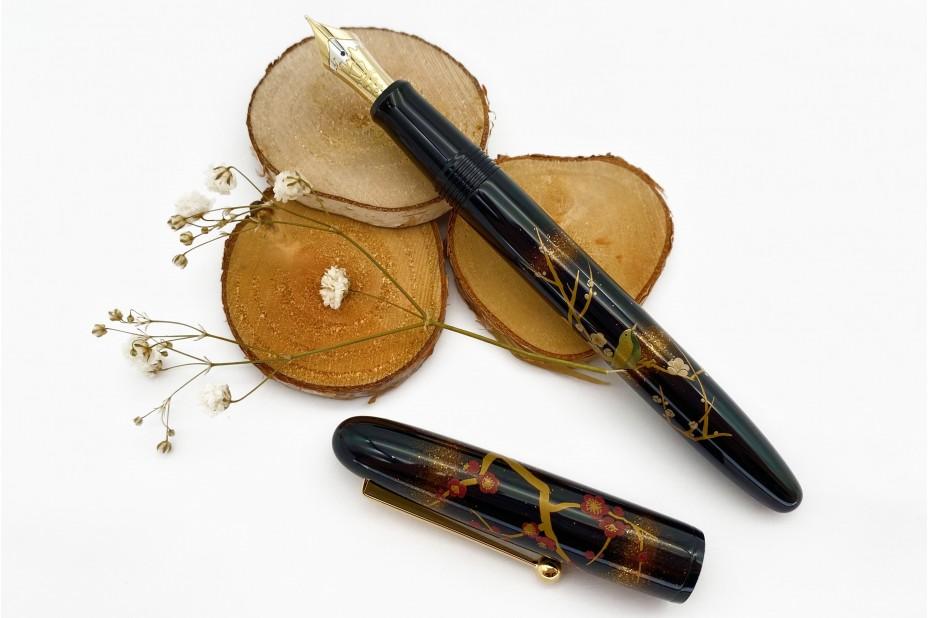 Namiki Yukari Size Apricot Tree and Warbler Fountain Pen
