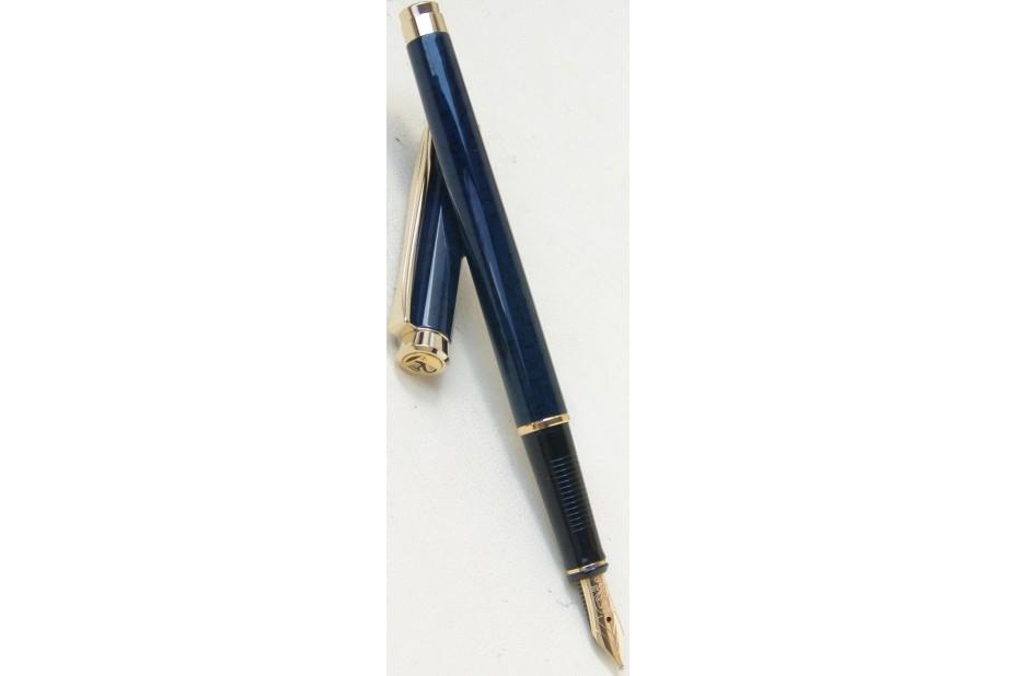 Pelikan Classic P381 Cirago Blue Lacquer Gold Trim Fountain Pen