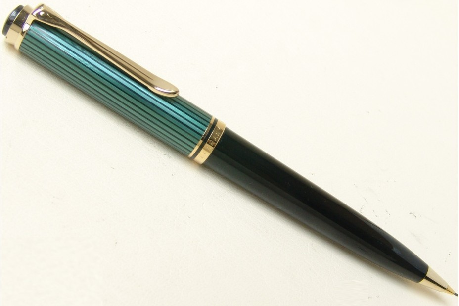 Pelikan Souveran D800 Green and Black with Gold Platd Trim Mechanical Pencil