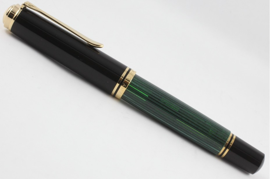 Pelikan Souveran M1000 Black Green Fountain Pen (New Logo Gold-Top)