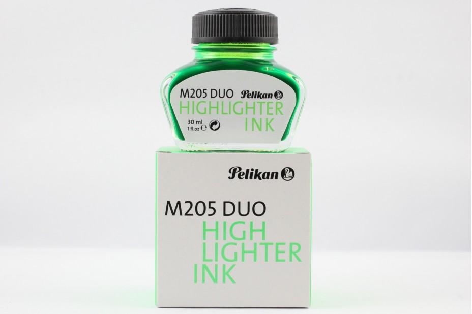 Pelikan M205 Duo HighLighter Shiny Green Ink (30ml)