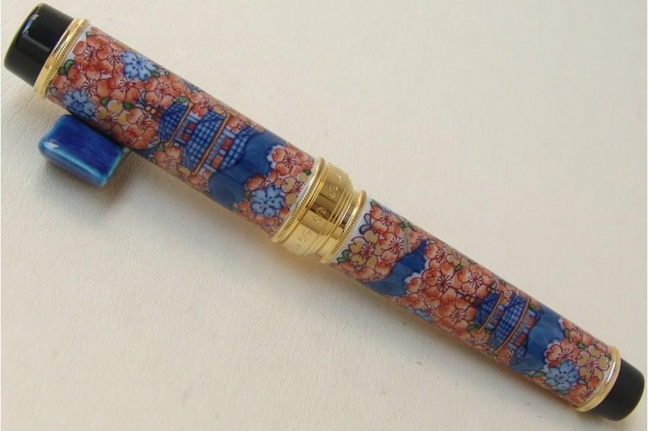 Sailor Arita - Porcelain Flower and Castle (Gen Emon Kiln Koimari Furoukku Sakurazu) Fountain Pen