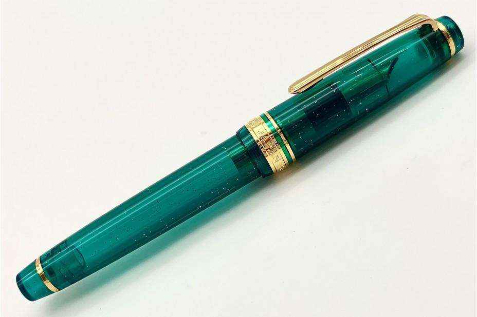 Sailor ProGear Slim Blue Green Nebula Fountain Pen