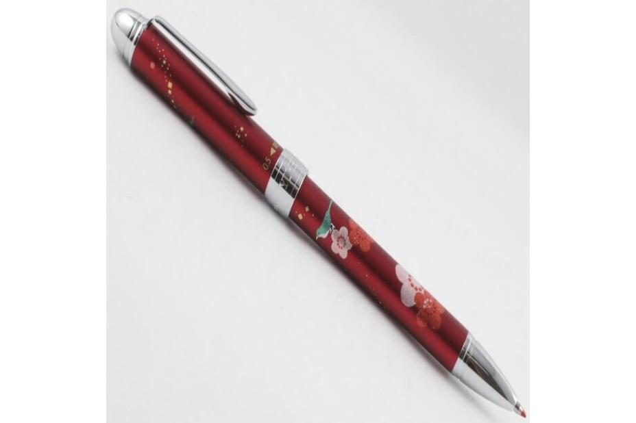 Sailor Yubi Uguisu (Japanese Bush Warbler) Red 2 Ball Pen + Mechanical Pencil