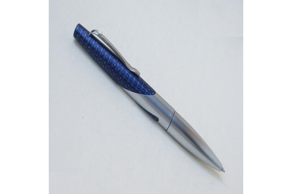 Sheaffer Intrigue 612 Whale Shark Matte Chrome Patterned Blue Ball Pen