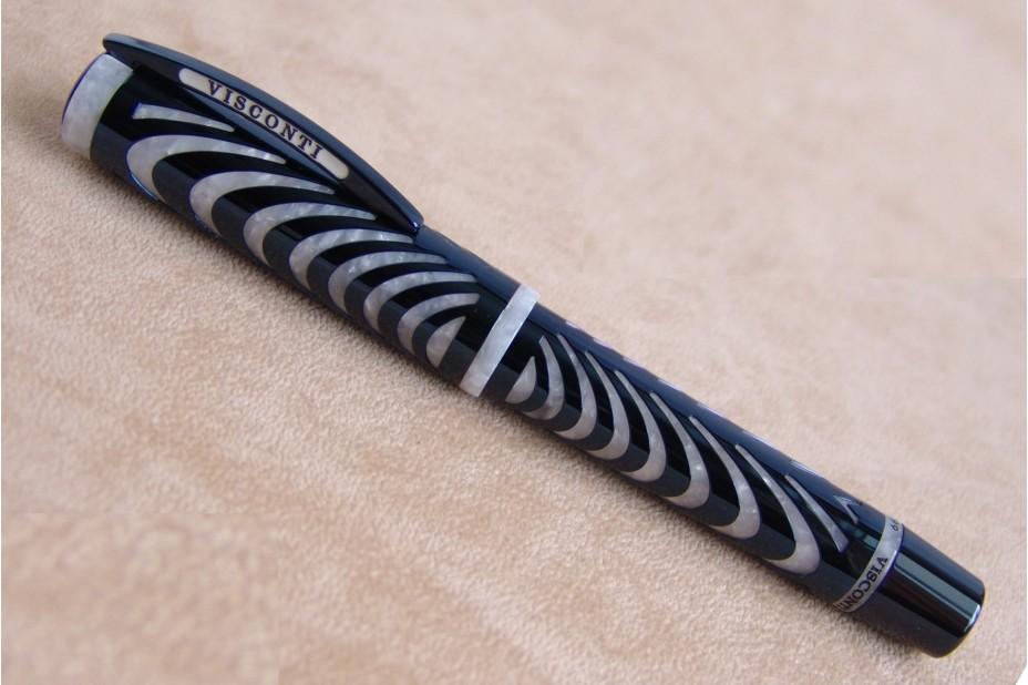 Visconti Limited Edition The Ripple Blue Filigree Fountain Pen