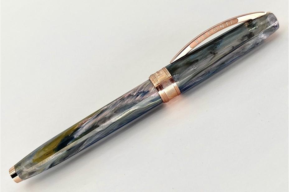 Visconti Van Gogh Orchard in Blossom Rose Gold Trim Roller Pen