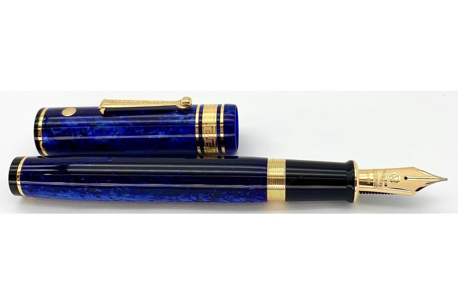 Wahl Eversharp Decoband FP Blue Positano Fountain Pen with Gold Trim