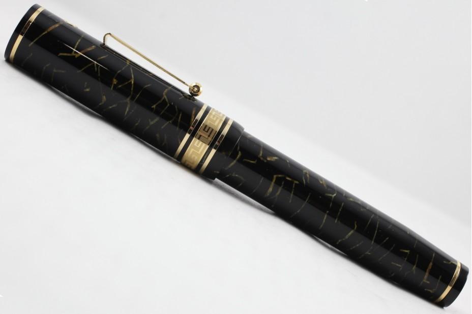 Wahl-Eversharp Decoband Gold Seal Oversized Oro Black Super Flex Fountain Pen